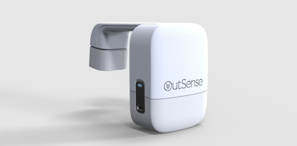 Outsense's device passively and automatically examines human waste