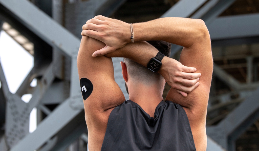 Levels uses a sensor that attaches to the back of an arm