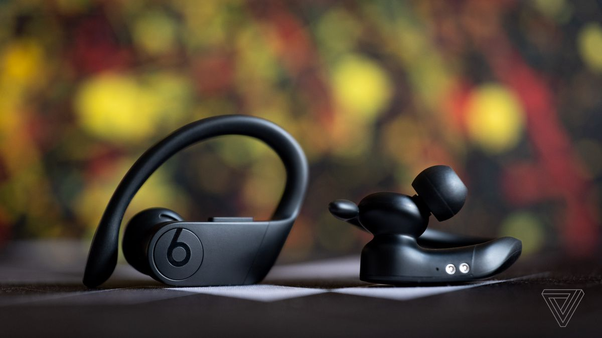 An image of the Powerbeats Pro, the best wireless earbuds for fitness.