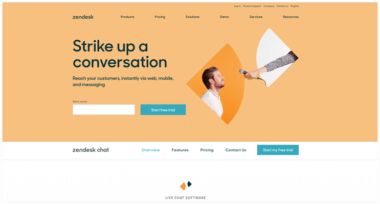Zendesk chat software