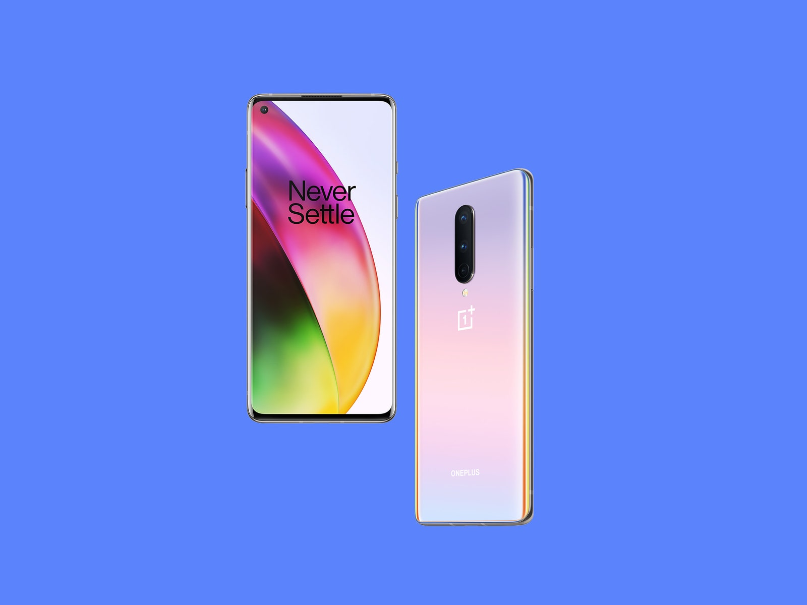 the front and back of the new oneplus 8 phone