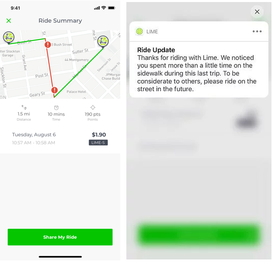 Lime is rolling out sidewalk detection