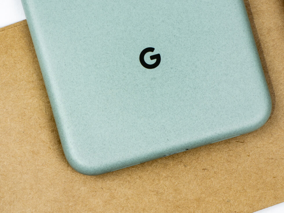 The back finish of the Pixel 5 kind of looks like a paper bag or construction paper.