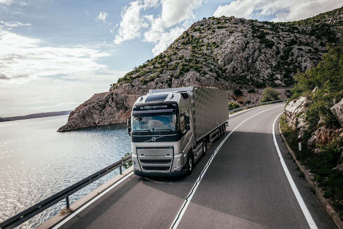 Volvo FH electric truck.