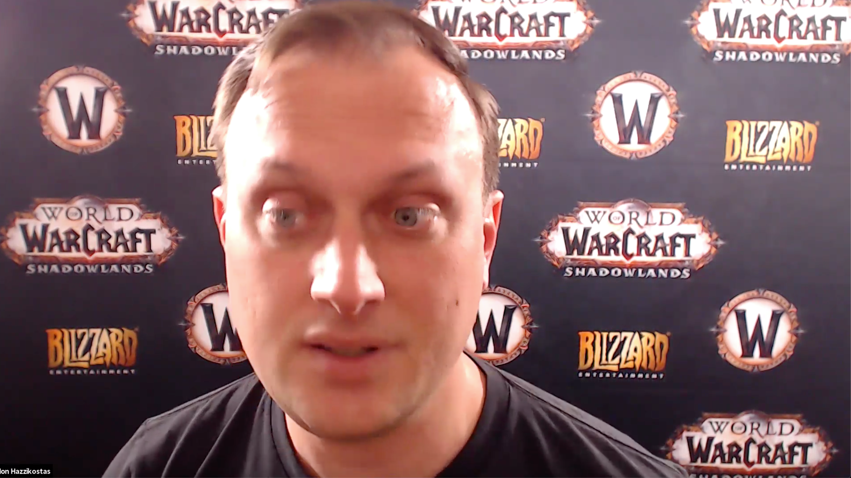 Hazzikostas during our Warcraft: Shadowlands 1:1 video interview.