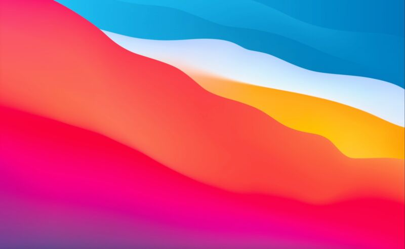 Big Sur's default wallpaper is bright and abstract and frankly kind of iOS-esque.
