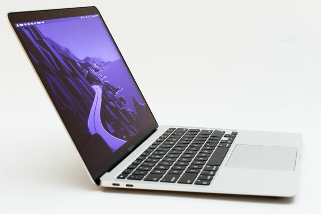 The M1-equipped Apple MacBook Air.