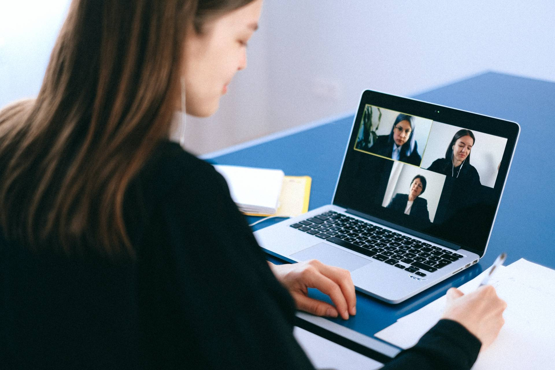 remote team video conference