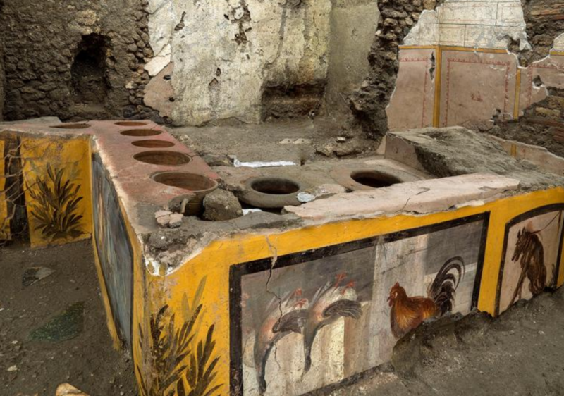 Archaeologists excavate ancient Roman takeout counter at Pompeii