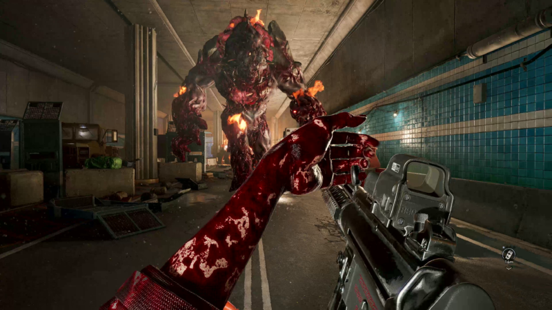 Blood from other zombies' faces, making it slippery to reload during a terrifying moment in <em>Back 4 Blood</em>'s solid closed alpha test.