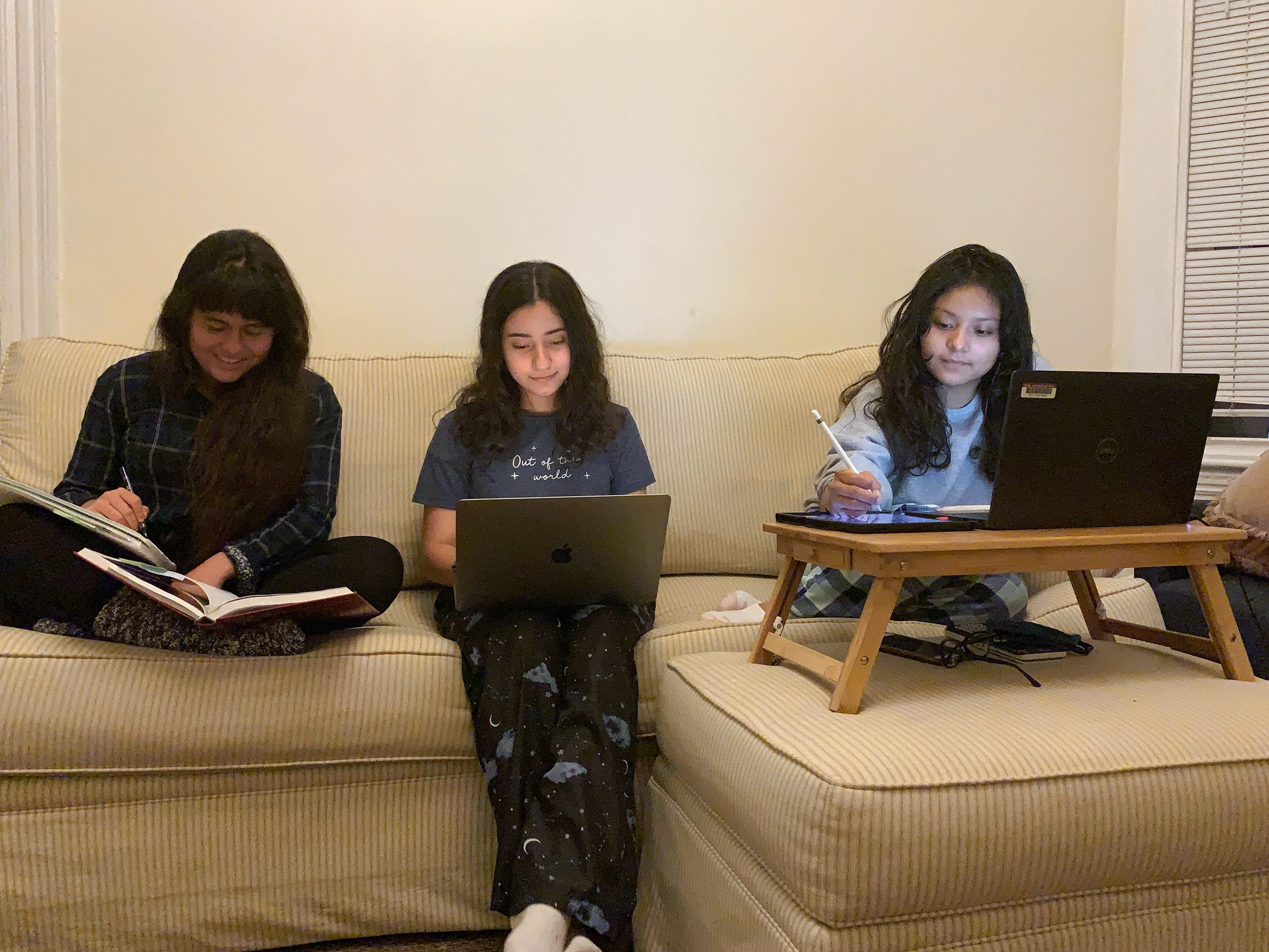 studying with roomates