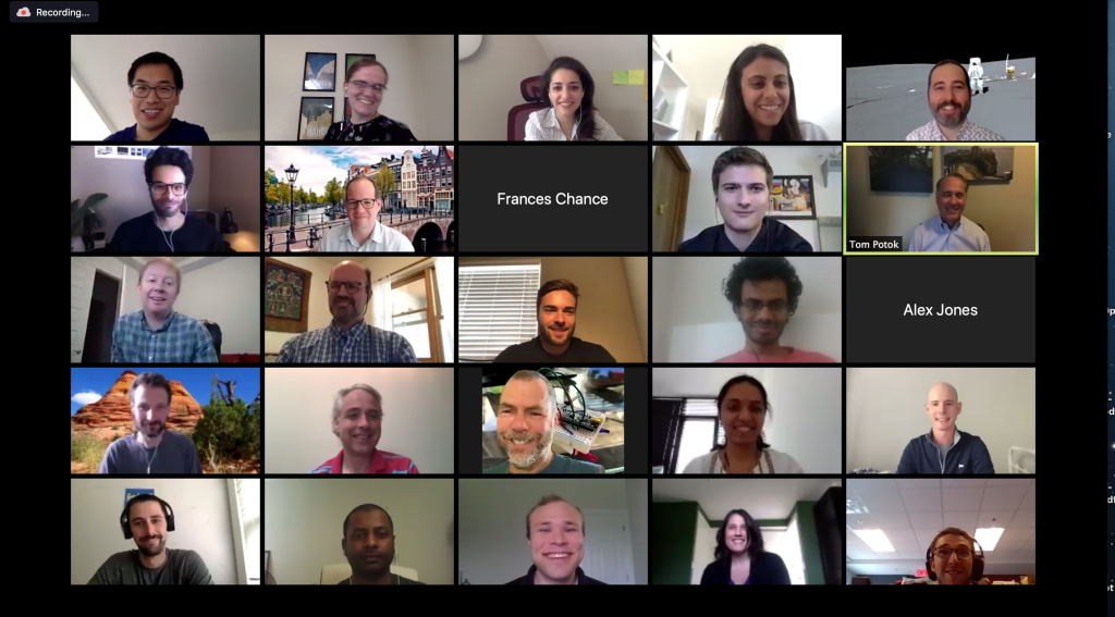 Virtual attendees at the 2020 ICONS neuromorphic conference, hosted by the U.S. Department of Energy's Oak Ridge National Laboratory