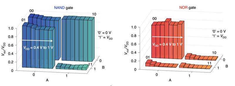 Image of two sets of bar graphs.