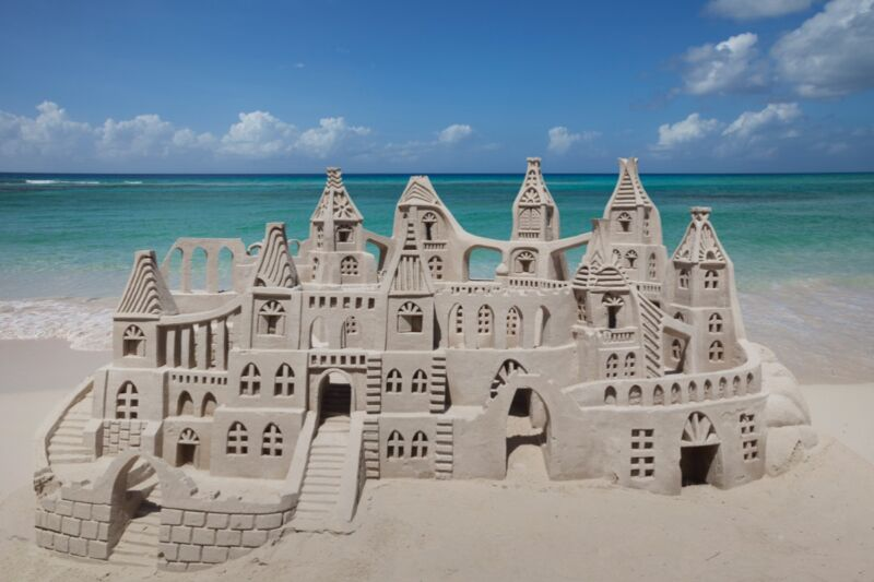 The secret to a stable sandcastle primarily lies in the right proportion of water to sand. Mathematically, the forces at play are described by the