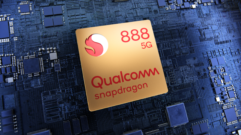 The Snapdragon 888, sitting on the world's biggest ARM motherboard.