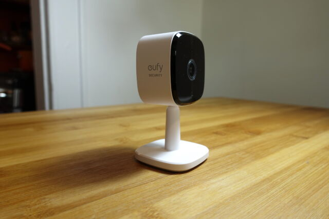 Eufy's Indoor Cam 2K is a great budget security camera with a crisp video quality.