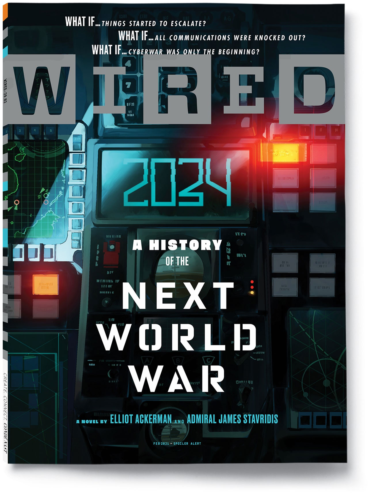 WIRED February 2021 issue cover 2034 A History of the Next World War
