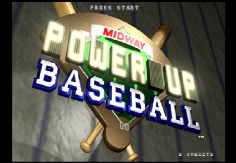 Promotional image for baseball arcade game.