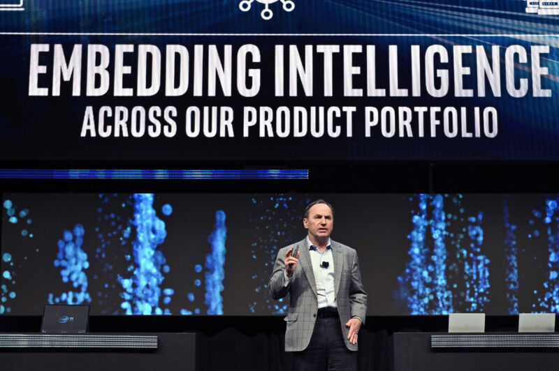 Intel Chief Executive Officer Bob Swan during an Intel press event for CES 2020 at the Mandalay Bay Convention Center on January 6, 2020 in Las Vegas, Nevada.