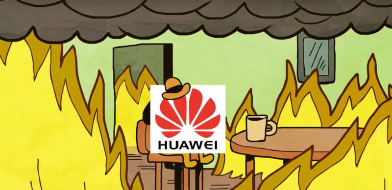 A live look-in at Huawei headquarters.