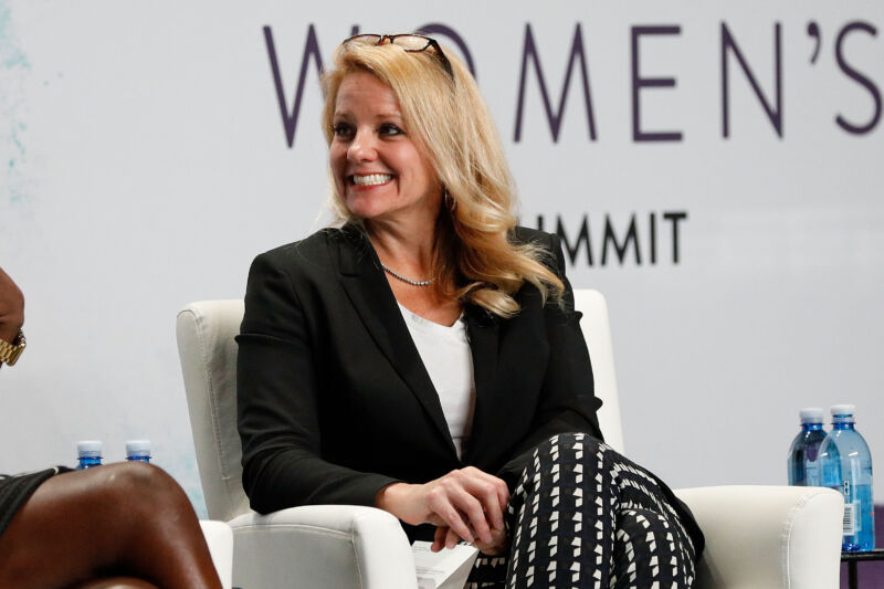 Gwynne Shotwell speaks during the 2017 Forbes Women's Summit in New York City.