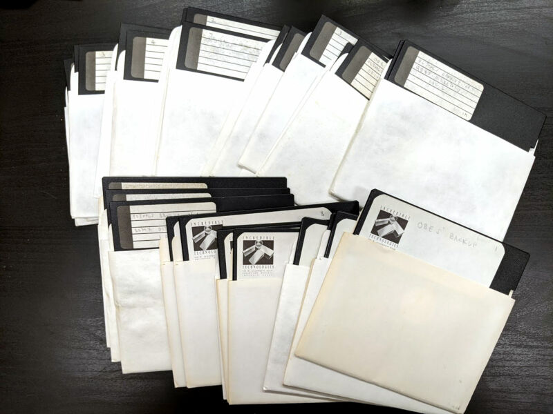 The <em>Days of Thunder</em> NES prototype source code on these disks sat in his basement for 30 years before being uncovered upon his death.