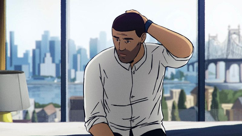 An animated man scratches the back of his head, looking thoughtful.