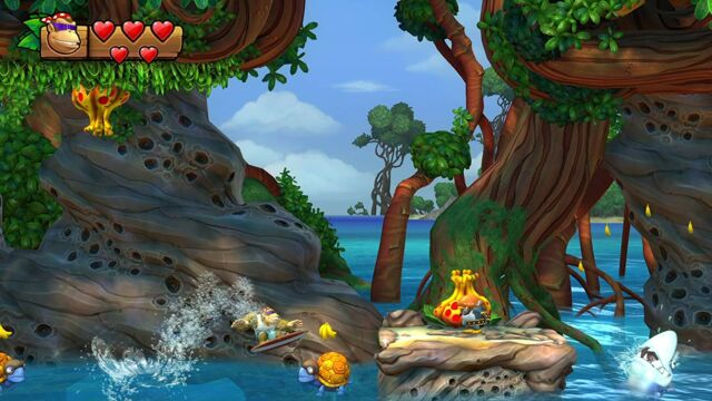 <em>Donkey Kong Country: Tropical Freeze</em> is gorgeous even with the Switch's technical limitations.