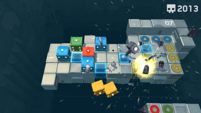 <em>Death Squared</em> is a puzzle game that requires careful communication.