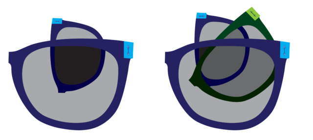 Rearranging the order of the glasses makes a big difference.
