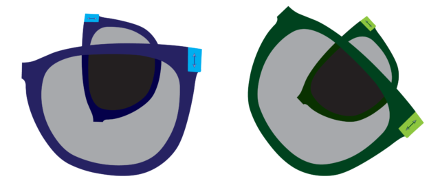 Only the orientation between the lenses matters, not how they're oriented relative to the environment.