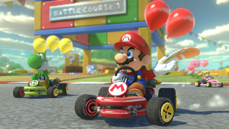 <em>Mario Kart</em> is a safe standby for any couch co-op session.