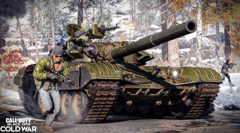 You can call in a tank in Call of Duty: Black Ops -- Cold War multiplayer.