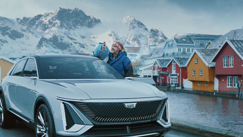 GM and Will Ferrell took a Cadillac Lyriq EV to Sweden to highlight the fact that Norway buys more electric vehicles per capita than the US.